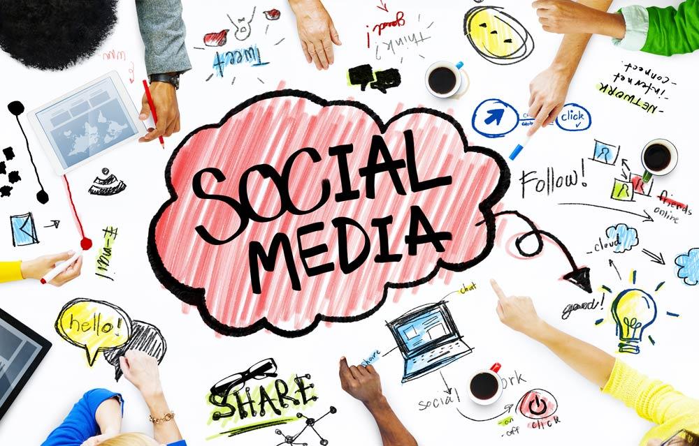 adesivi social media