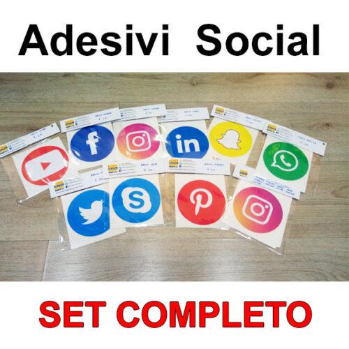 Set Adesivi Social